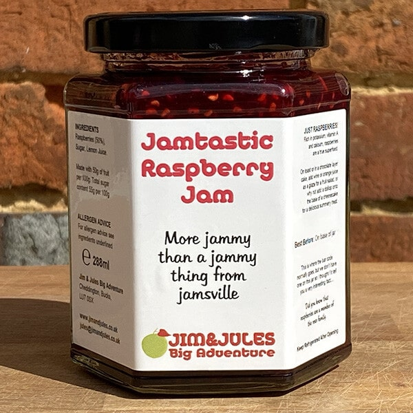 Jim And Jules Jamtastic Raspberry Jam