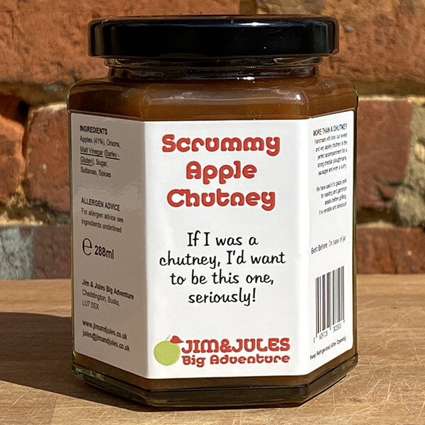 Jim And Jules Scrummy Apple Chutney